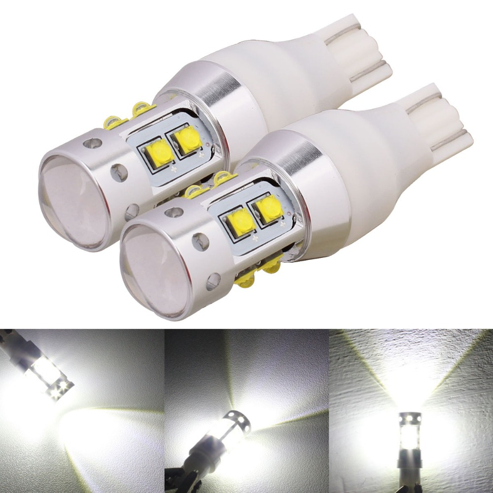2pcs T15 W16W 50W with CREE Chip XB-D Car LED Reverse Light / Backup Lamp / Tail Rear Light / Front Fog Lights White 12V 2x xenon white car styling canbus error emitter led t15 360 5050smd 921 912 w16w led backup parking reverse lights car led