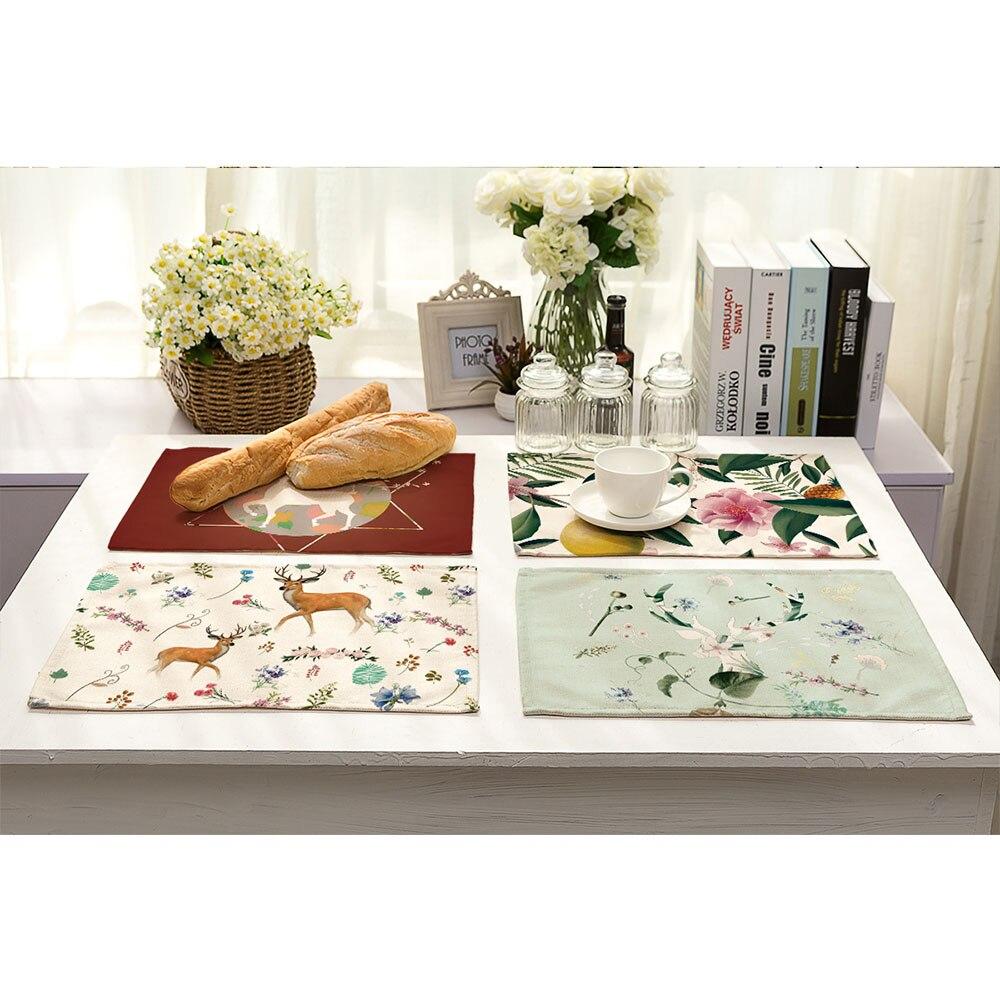 Miracille 2/4/6 pcs Kitchen Modern Accessories Cotton Linen Deer ...