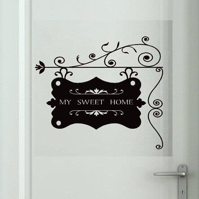 Mi dulce hogar ingresar dormitorio living room decor arte for Pegatinas pared dormitorio
