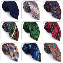 Paisley Dot Multicolor  Mens Necktie Silk Brand New Fashion Classic Wedding Tie for male Colorful Groom
