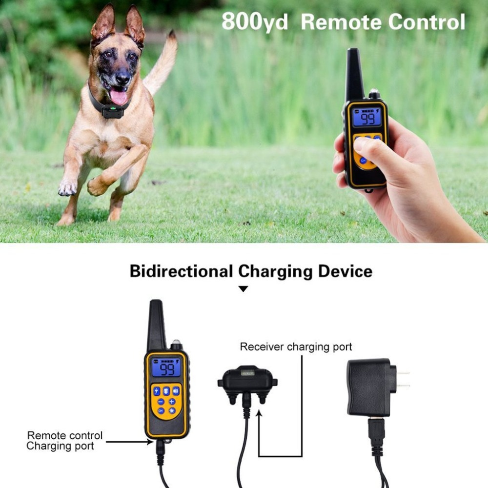 Electric Pet Fencing System Dog Shock Collar With Remote Control Waterproof Electric For Large Dog Pet Training Device цена
