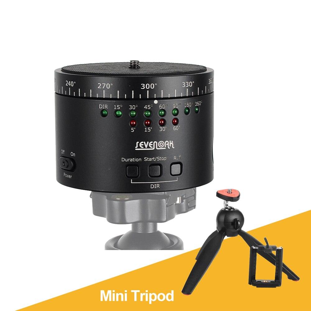 SEVENOAK SK-EBH01 360 Degree Electronic Swivel Panoramic Tripod Ball Head for DLSR Camera  + Yungteng 228 Mini Tripod