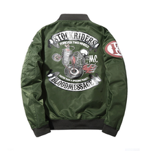 2017 Spring and Autumn Tide Dyeing and Printing Zipper Clothing Youth Air Force Pilot Jacket Male Jacket Leisure Wear