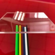 300x400x5mm 2 pieces crystal clear transparent acrylic plastic plaque