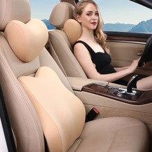 1set 3D Mesh Seat Support Pillow Car Seat Lumbar Support Cushion Back Pillow Auto Headrest Back Pain Support Memory Foam Massage недорого