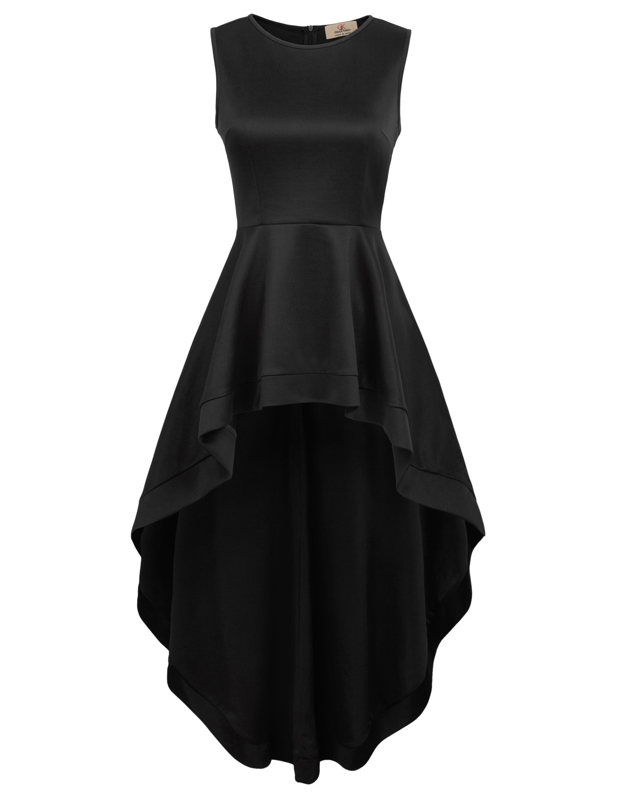 b1589b8df7a76 red black gothic maxi dress women sleeveless irregular hem wedding ...