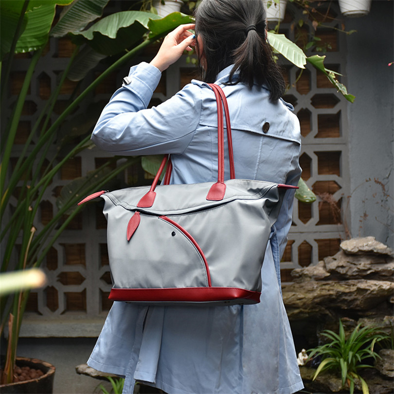 BeDo Oxford Casual Women Tote Shoulder Bags Oxford Female Shopping Bags Simple Large Capacity Ladies Handbag Gray Red Color sfg house women handbag casual tote bag large capacity women shopping shoulder bags candy color female summer beach bags
