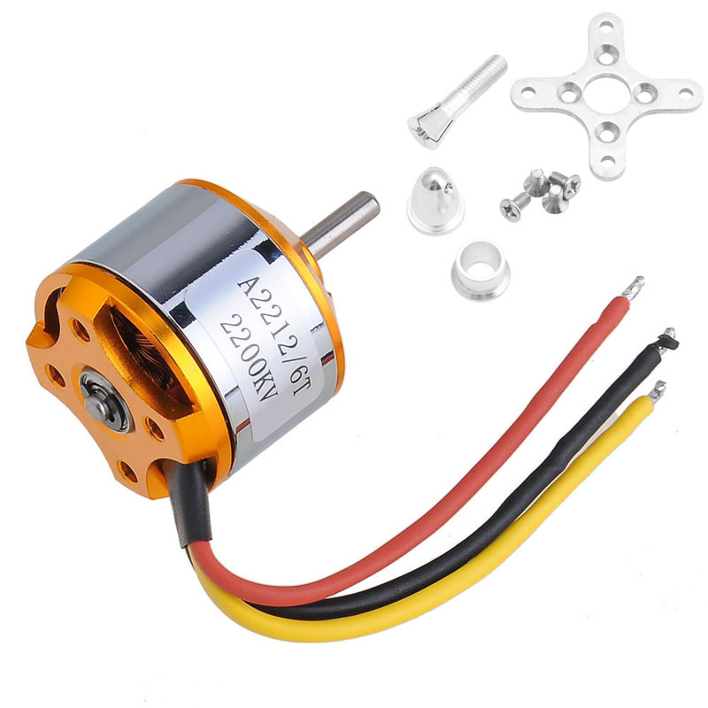 A2212 6T 2200KV Outrunner Motor Brushless For RC Aircraft Quadcopter Helicopter %328/319 hj2208 1400kv high speed brushless motor for rc helicopter rc aircraft anticlockwise rotation