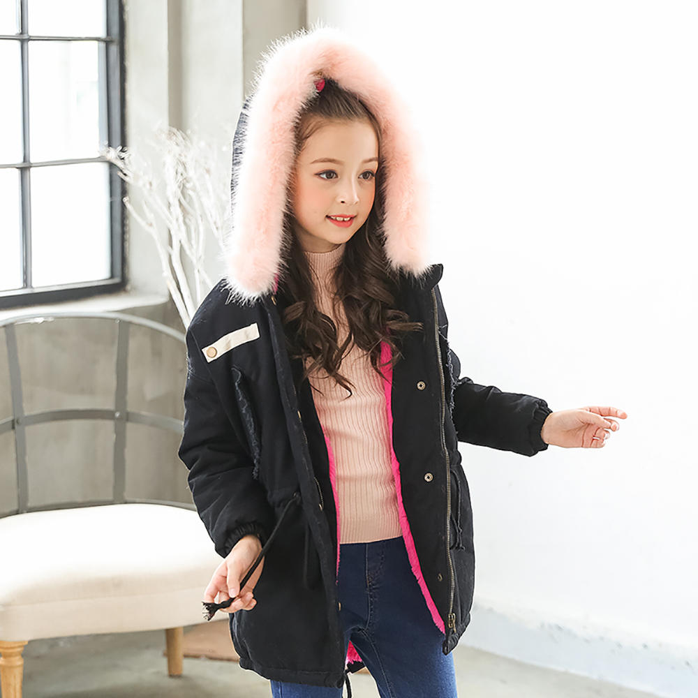 B04 Boys Girls Kids Autumn Solid Color Cotton Jackets Long Sleeve Winter Jacket Coat Keep Warm Outerwear 7-14Years Outwear plamtee baby boys girls winter jacket 2017 brand candy color hooded warm coat zipper solid windproof outerwear for kids clothing