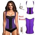 Das mulheres sexy 3 ganchos trainer cintura cincher corset body shaper colete shapewear