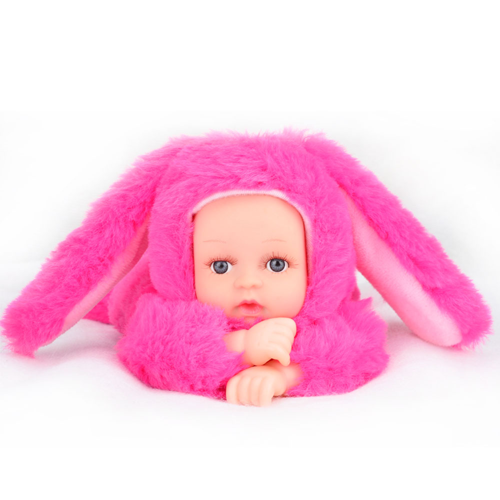 reborn baby rabbit/bear plush doll toys 25cm open eyes cute baby