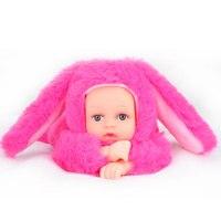 Reborn Baby Rabbit Bear Plush Doll Toys 25CM Open Eyes Cute Baby Dolls With Children Sleeping