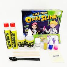 2 Цвета DIY слизь комплект пушистый Кристалл Gliter порошок клей играть в игры для детей игрушки взрослых снятие стресса Кристалл грязи слизь подарок