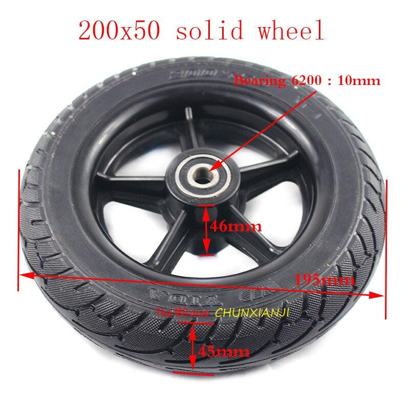 Boa qualidade 200x50 8 polegada pneu da roda Sólida fit Hoverboard Hoverboard Duas Rodas Auto Balanceamento Elétrico Scooter de 200x50 pneu