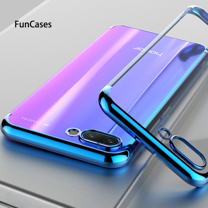 Transparent Plating Soft TPU Phone Case For Huawei Honor 9 10 lite 7A 7X 8C 8X lite P Smart P30 P20 lite Cover Silicone Case(China)