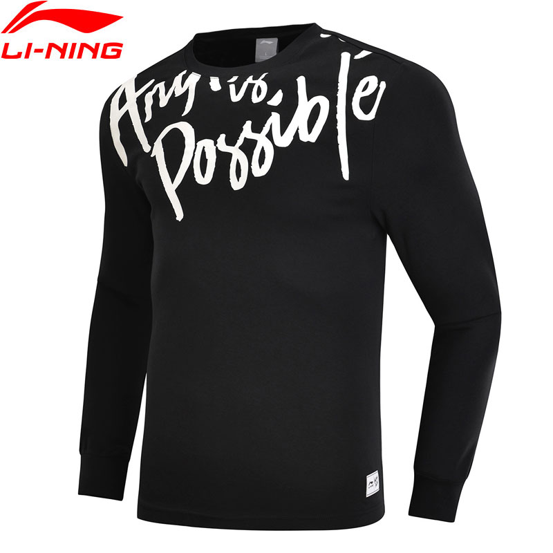 Gut Li-ning Männer Der Trend Serie Pullover Regelmäßige Fit 100% Baumwolle Futter Komfort Sport Tops Sweatshirts Ahsn679 Mww1435 Hemden