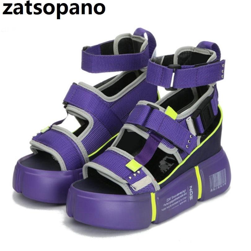 Womens Hot Platform Wedges Sport Sandals High Heel Open Toe Sneakers Creepers
