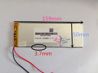 10 pcs 3.7V 3500mah 3750159 Lithium Polymer Rechargeable battery For DIY GPS PSP Power bank Tablet PC MID DVD PAD