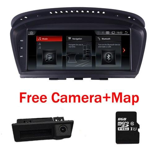 2018 Hot Android 7.1 rádio Car multimedia player para BMW Série 5 E60 E61 E63 E64 E90 E91 E92 CCC CIC iDrive Suporte de Estacionamento