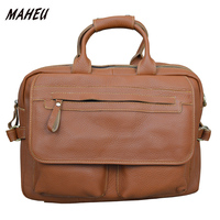 Unisex Genuine Leather Briefcase Red 15 Laptop Bag Women Cow Leather Bag Code Lock Real Leather