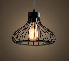 Минимализм Подвесной Свет Черный Провод Клетке Лампы Подвесные Светильники lustre de cristal сала главная ресторан главная светильники