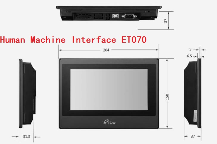 ET070 Kinco Eview 7inch color HMI touch screen industrial hmi human machine interface kinco eview et070 7 inch touch screen panel