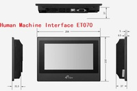 Free Shipping Eview ET070 Kinco HMI 7 Inch Colour Touch Screen