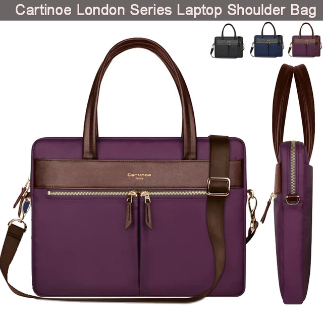 b271e884ff48 Cartinoe Pu Leather Laptop Bag w  Shoulder Strap Handbag Messenger Women  Ladies Briefcase for 14 15.4 inch Notebook Ultrabook