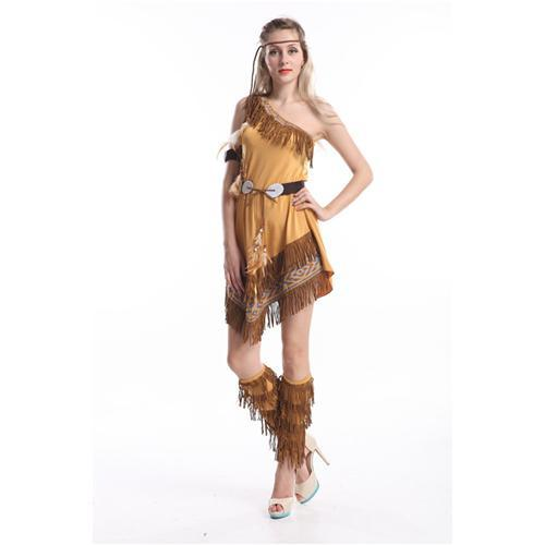 Sexy Indian Costume One Shoulder Sexy Women Costume With Tassels