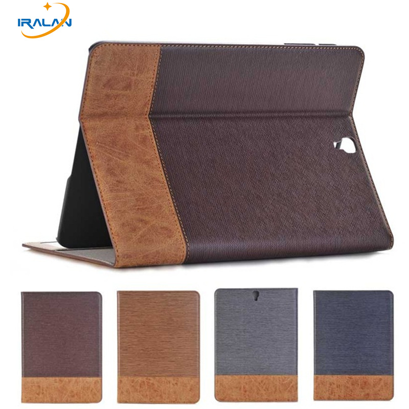 4 in 1 Luxury Cross Pattern PU Leather Case for Samsung Galaxy Tab S3 9.7 T820 T825 Flip Stand wallet with card slot Tablet cove keymao luxury flip leather case for samsung galaxy s7 edge