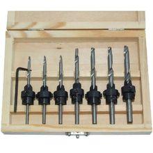 Сверло зенковки сверло 22 шт. комплект ж / чехол деревообрабатывающий инструмент