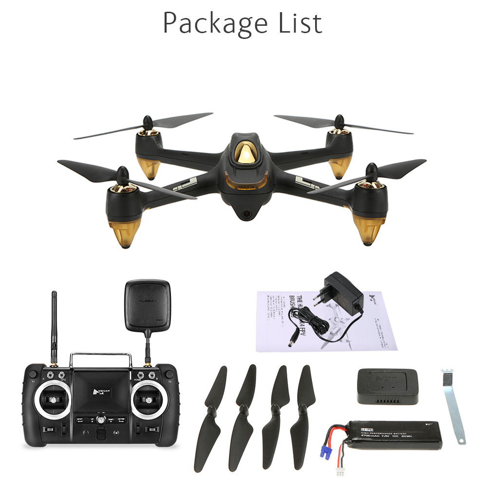 Hubsan H501S Pro X4 5.8G FPV Selfie Drone Brushless RC Drone with Camera 1080P 10 Channel Remote Control GPS RC Quadcopter