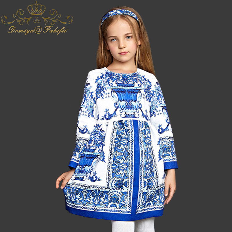 Spring 2018 Dress For Baby Girl Long Sleeve Winter Baby Girl Princess Dresses Kid Clothes For Girls 14 Years Vetement Enfant велосипед royal baby princess jenny girl bike 14
