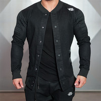 2018 Shark Top Quality Boutique Brand Jacket Men Slim Fit Male Casual Jackets For Men Gyms