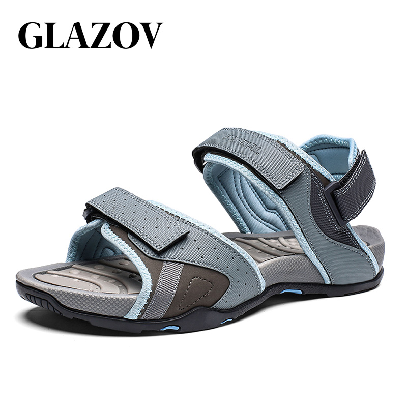 GLAZOV Summer Style High Quality Beach Casual Male Sandals Breathable For Men Walking Brand High Quality Comfortable Shoes 39-46