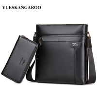 YUES KANGAROO Brand Leather Men Leisure Shoulder Bags Classical Business Messenger Bag Mens High Quality Briefcase