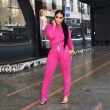 2019 Spring Autumn Womens Sports Leisure Suits Europe America Women Jogging Sets Hot