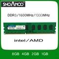Marca al por mayor RAM DDR3 PC3-10600 1600 MHz 1333 MHz 8 GB 4 GB 2 GB 1 gb de doble canal de memoria dimm de escritorio pc para intel/amd sistema