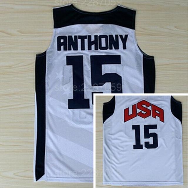 ... discount code for ediwallen hot selling 15 carmelo anthony jersey men  basketball dream team ten 2012 065aa09be