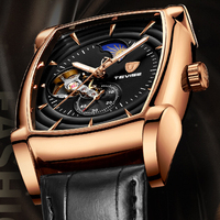 Tevise Automatic Watch Men Luxury Brand Mens Mechanical Watches Tourbillon Male Self Winding Sport Wristwatch Relogio Masculino