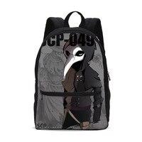 Canvas Backpacks For Men Women Fashion Luxury Crazy SCP Letter 3D Printing Bookbag Travel Bag Laptop Backbag Mochila Escolar