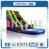 Free Shipping 0.55mm PVC inflatable slide jumping bouncing tarpaulin inflatable slide For Party And Events