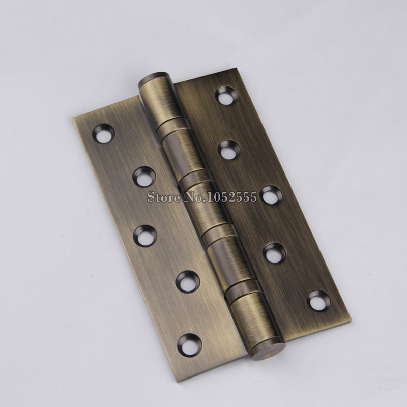 4PCS/lot 5Inch*3Inch*3mm Stainless Steel Brushed Door Hinges Extra thick Smoothu0026Quiet Mute Door Hinges Furniture Hardware-in Cabinet Hinges from Home ... & 4PCS/lot 5Inch*3Inch*3mm Stainless Steel Brushed Door Hinges Extra ...