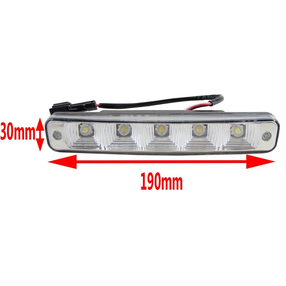 10W 6000K led day lights for all car day running light lamp universal 12V car led drl auto day light high power car light source