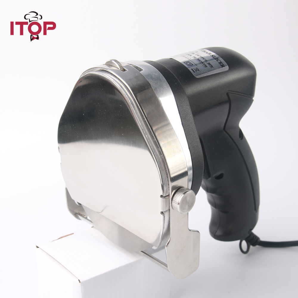 ITOP Kebab Knife Kebab Slicers, Meat Slicers Shawarma Machine Cutter ,kebab shawarma gyros cutter Kitchen Electric Knife itop automatic doner kebab slicer for shawarma kebab knife gyros knife gyro cutter two blades 220v 110v 240v