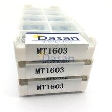 10pcs Knife pad MT1603 Adaptation TNMG160404 Carbide blade gasket CNC machine tool bar accessories seismic iron