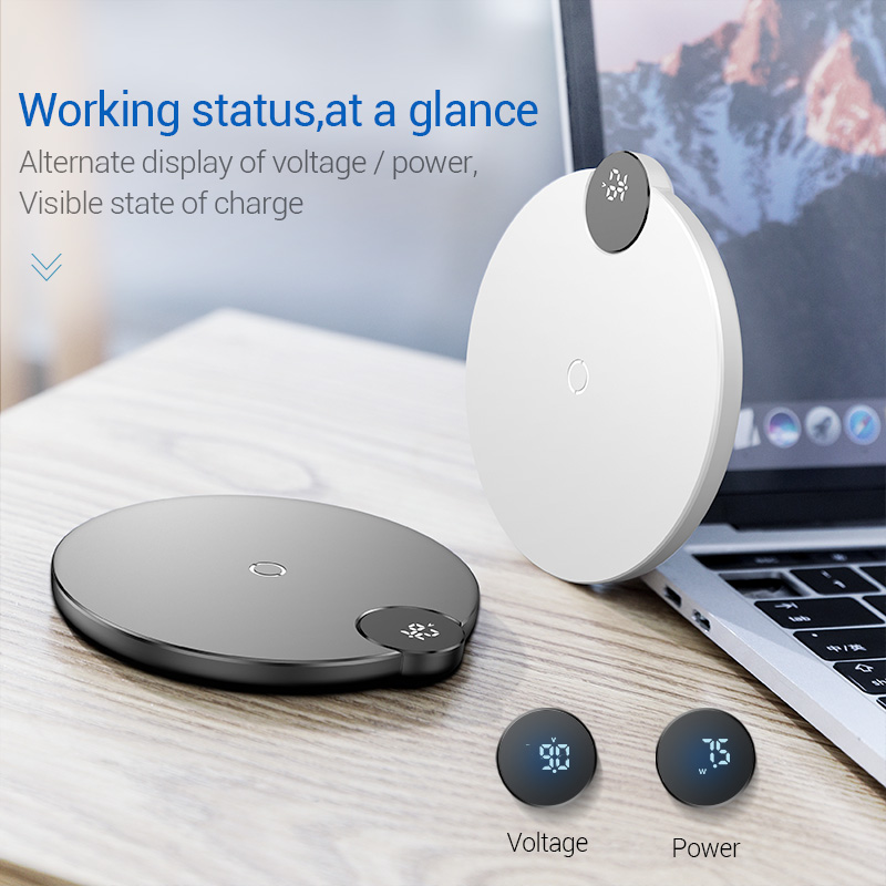 Wireless Charger 10W - Trendy QC 3.0 Fast Charger with digital power meter 1