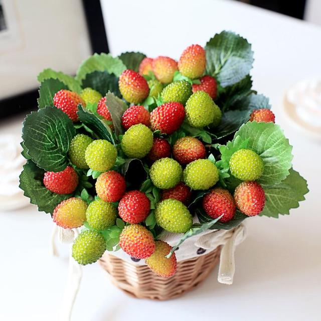 buy 9 small fruit decoration flower artificial fruit paddle strawberry photo. Black Bedroom Furniture Sets. Home Design Ideas
