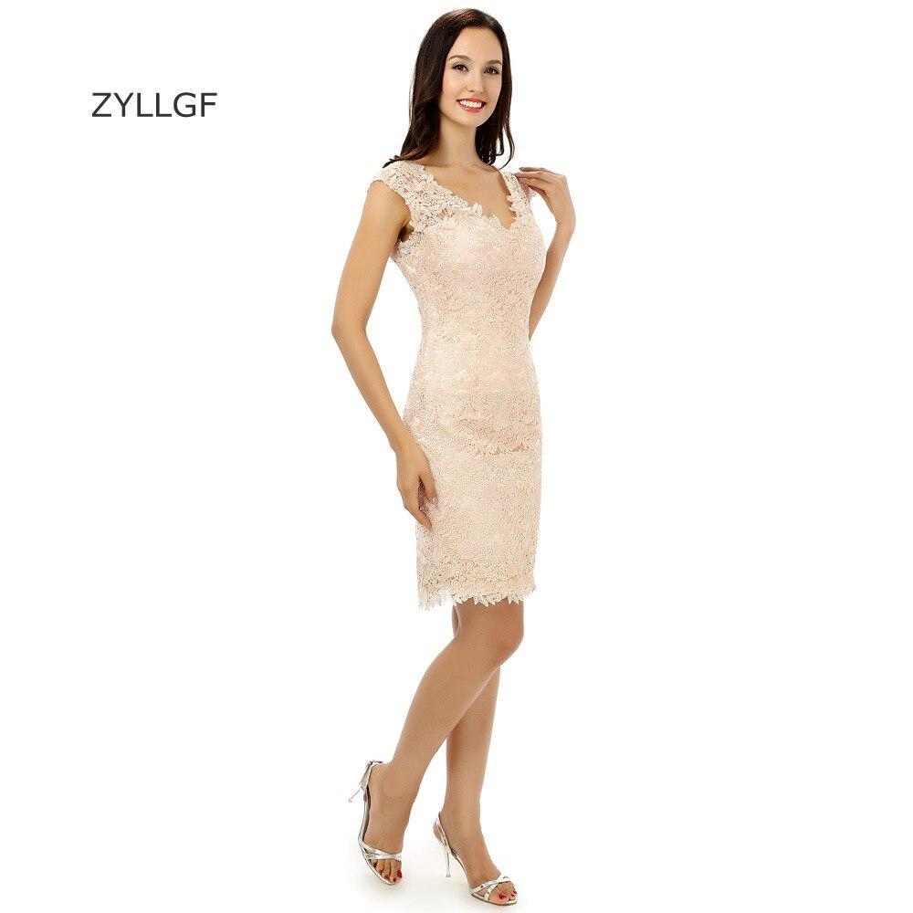 790f6565b ZYLLGF Último Diseño de Encaje a Corto Vestidos Fiesta La Vaina V Cuello  Vestidos de Partido Del Regreso Al Hogar de Graduación Vestido Por Encargo  ZL64 en ...