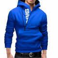 Hoodies Men 2017 Brand Male Long Sleeve Hoodie Side Zipper Letter Sweatshirt Mens Moletom Masculino Hoodies Slim Tracksuit 5XL E